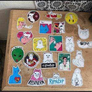 21 Rip N Dip stickers 😻😼